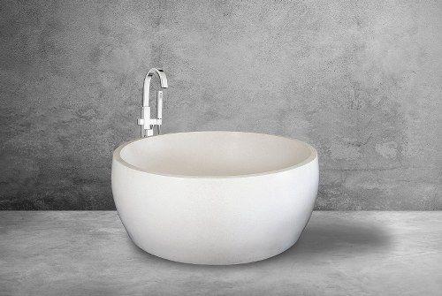 Round Bali Freestanding Terrazzo Bathtub