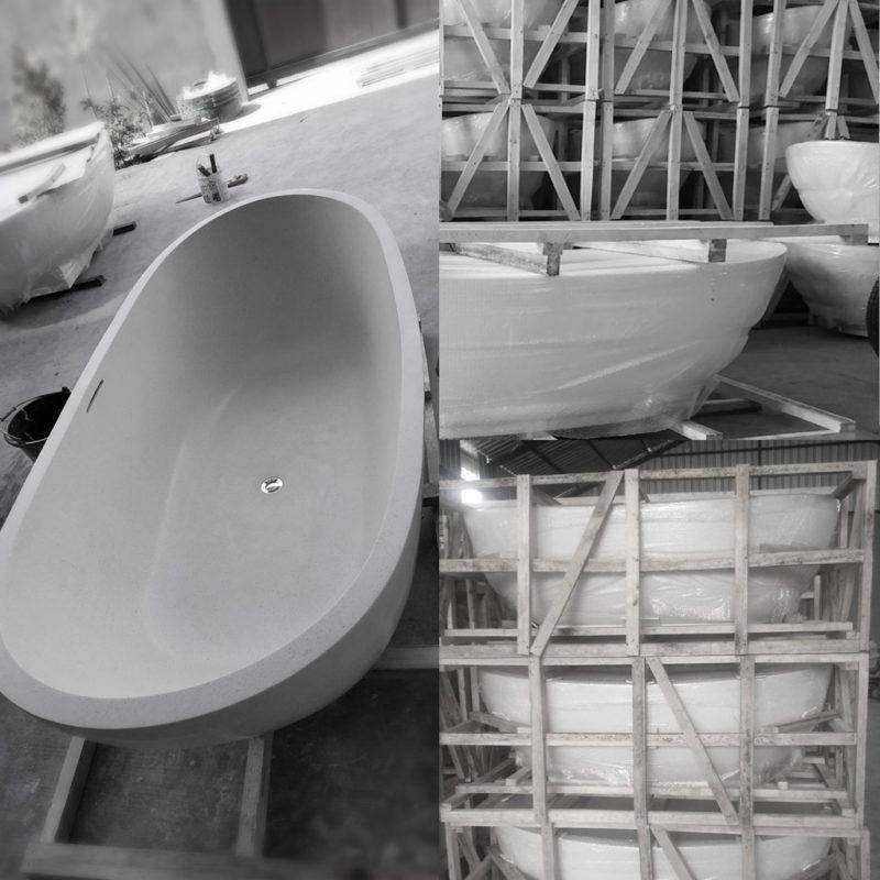 Custom Terrazzo Bathtub Design